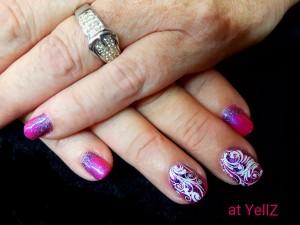 2016-11-22 13.12.20 - acryl shellac fel roze dubbel stamping nail art