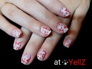 2017-01-08 22.59.12 - natuurlijke nagels shellac wit nail art rode sterren